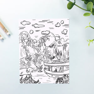 Jungle Coloring Sheet