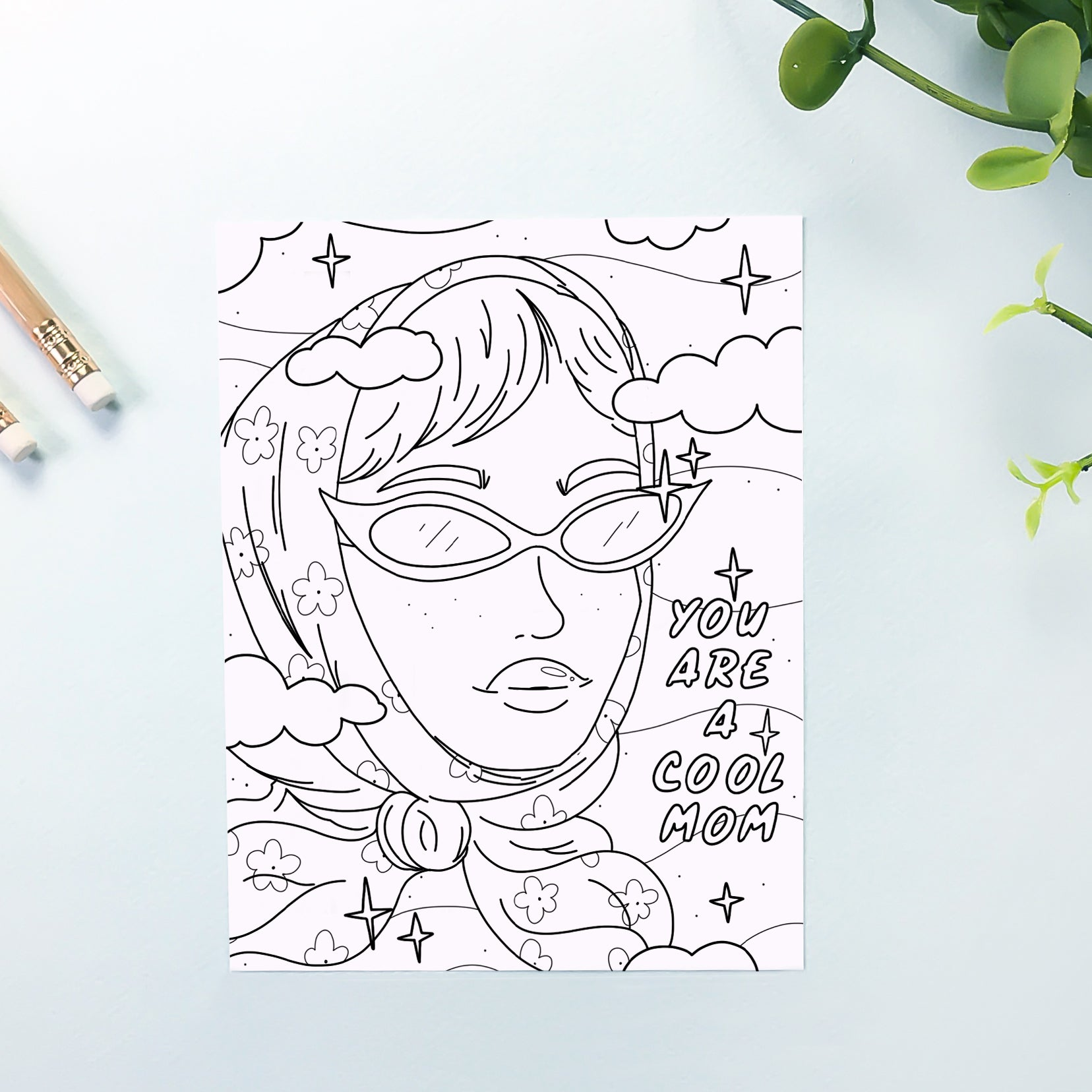 Cool Mom Coloring Sheet