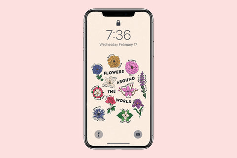 Flowers Around the World Phone Wallpaper (Digital Download)