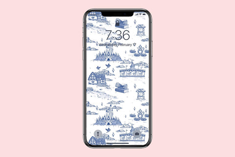 Fantasyland French Toile Phone Wallpaper (Digital Download)