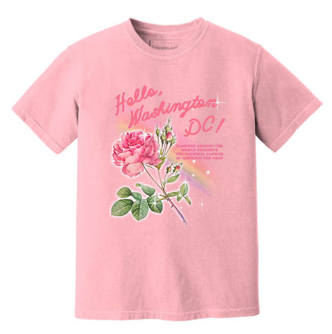 Vintage Style National Flower of America: The Rose Tee