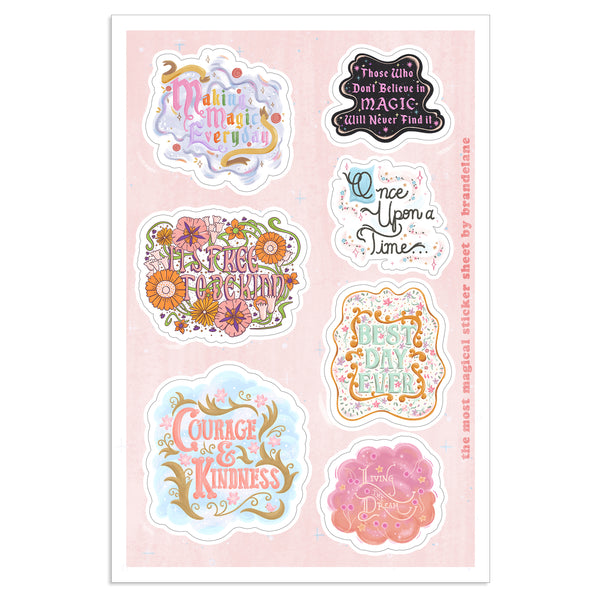 Fairy Tale Sticker Sheet