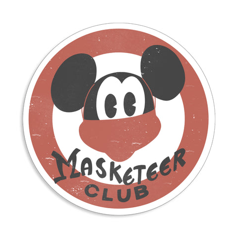 Masketeer Sticker
