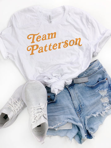 White Team Patterson Tee