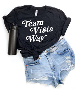 Black Team Vista Way Tee