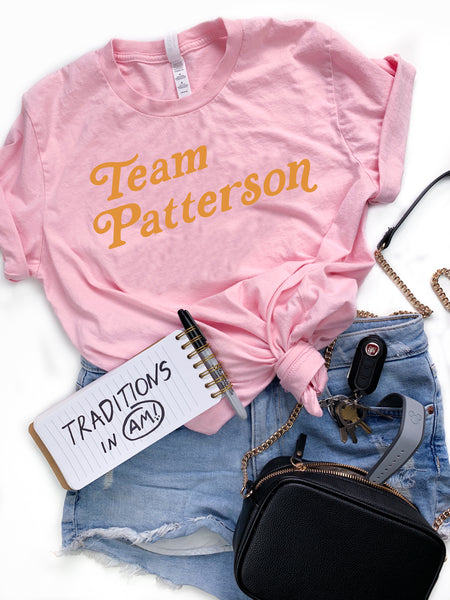 Pink Team Patterson Tee