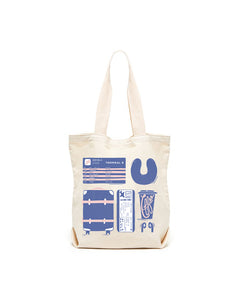 Airport Personal Item Canvas Tote Bag