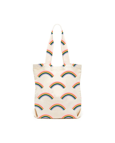 Rainbow Canvas Tote Bag