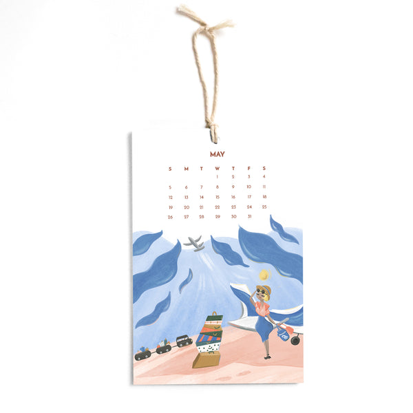Travel 2019 12 Month Calendar