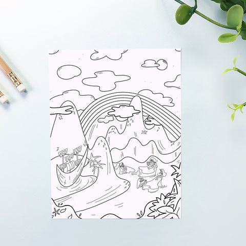 Mermaid Coloring Sheet