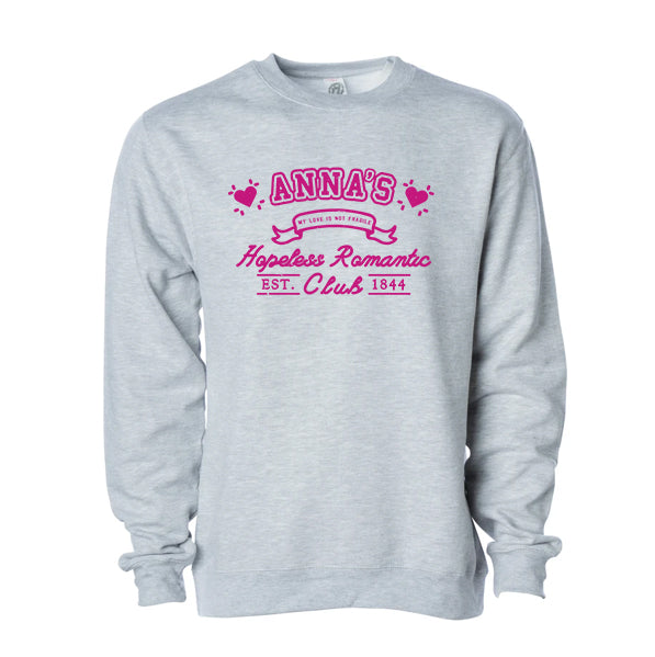 Anna's Hopeless Romantic Club Crewneck