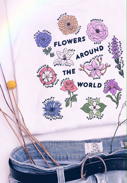 Flowers Around the World Tee