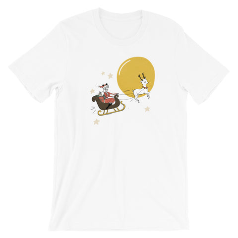 Santa Dapper Mickey Women's Tee