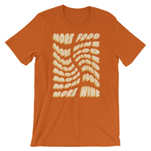 Orange More Food, More Wine Tee