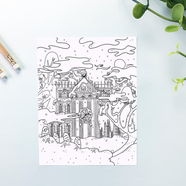 Haunted Nightmare Coloring Sheet