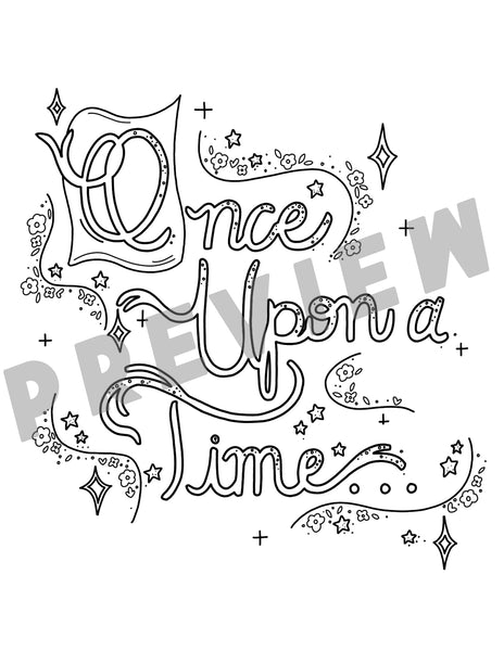 Once Upon a time Coloring Sheet