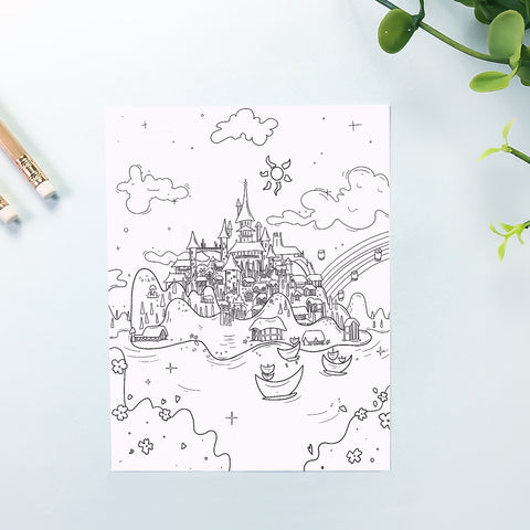 Crown Island Coloring Sheet