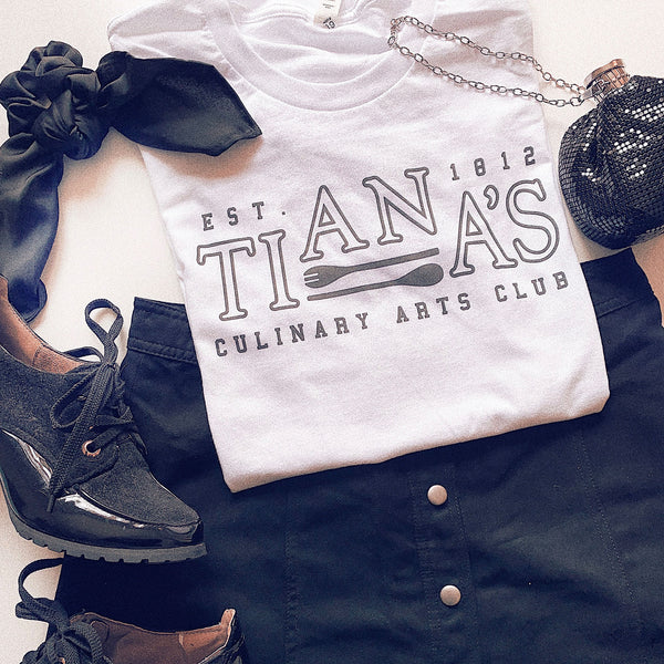 Tiana's Culinary Arts Club Tee