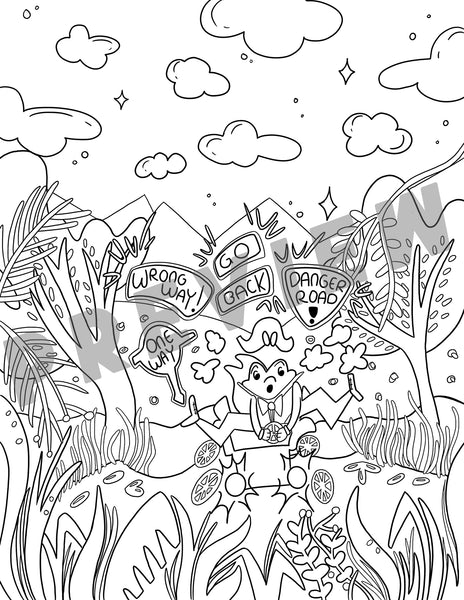 Toad Coloring Sheet