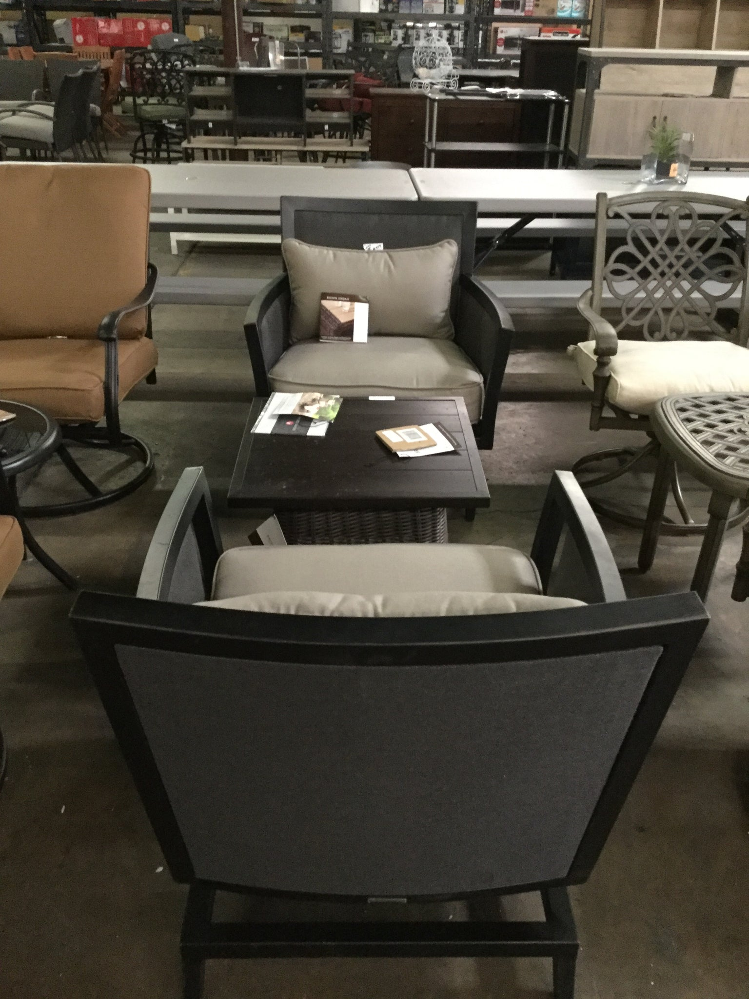 Groovy Greystone Patio Motion Lounge Chair In Sparrow 2 Pcs By Download Free Architecture Designs Intelgarnamadebymaigaardcom