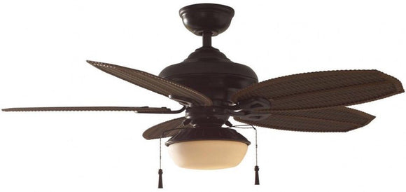 Palm Beach Iii 48 In Indoor Outdoor Natural Iron Ceiling Fan With Lig Spring Home Goods