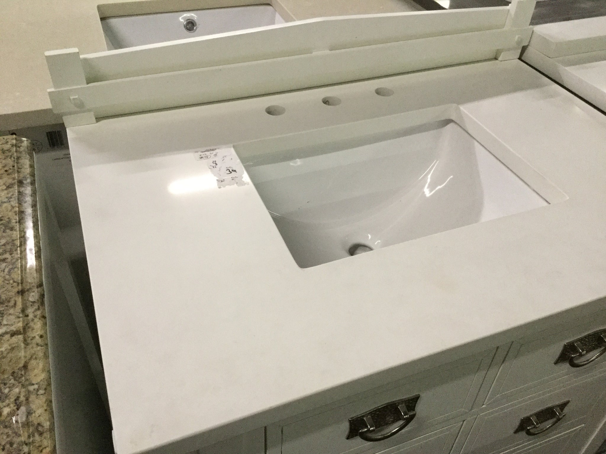 James Martin 33in White Quartz Top Only Toros Outlet Farmers Branch
