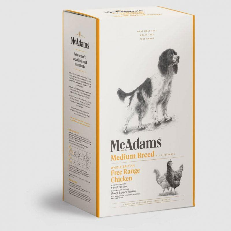 McAdams Free Range Chicken Dog Food for Medium Breed Dogs - Birdham Animal Feeds