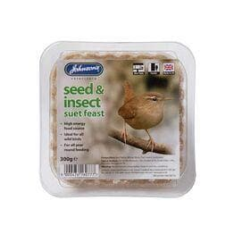 Johnsons Seed and Insect Suet Feast 300g - Birdham Animal Feeds