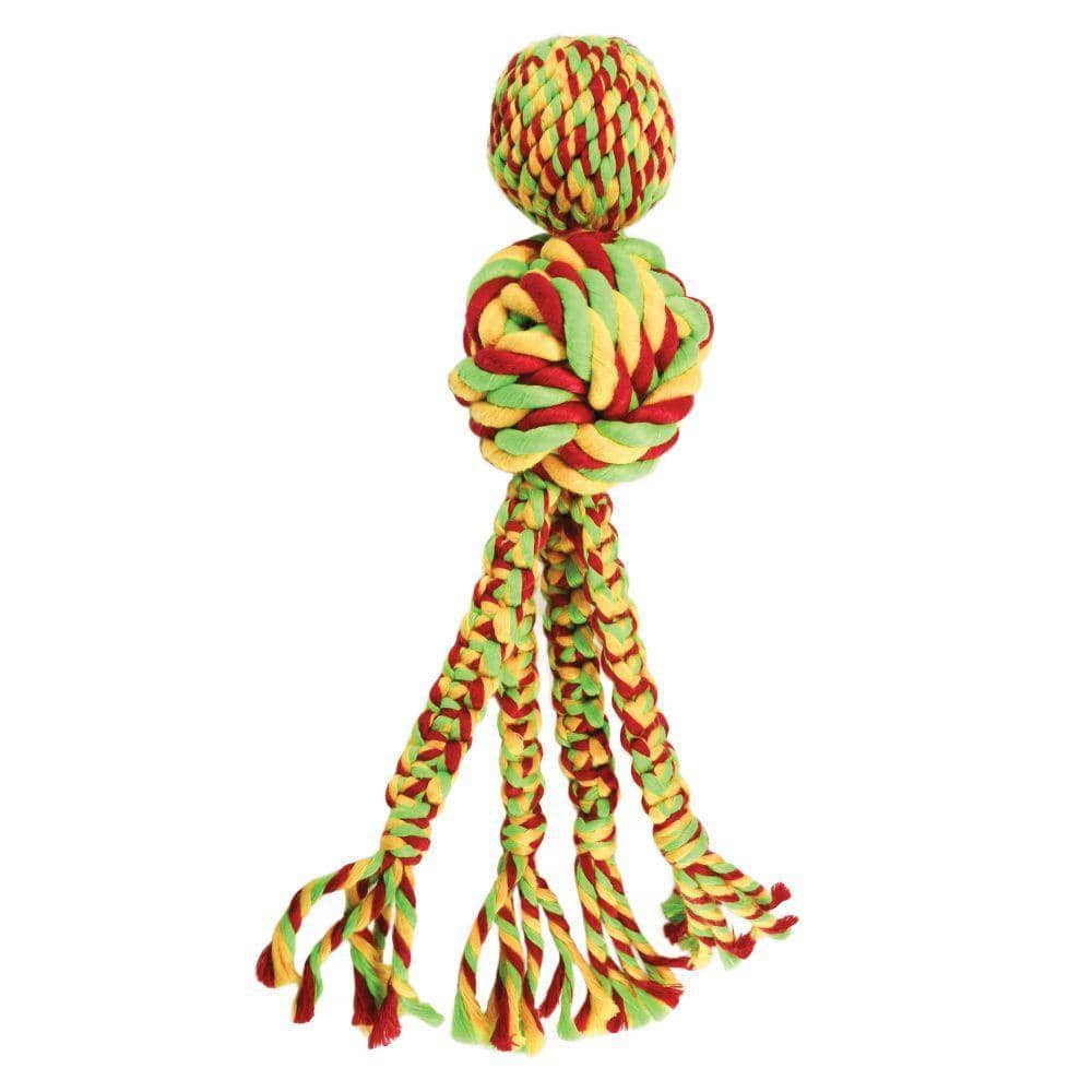 Kong Wubba Weaves with Rope Dog Toy - Birdham Animal Feeds