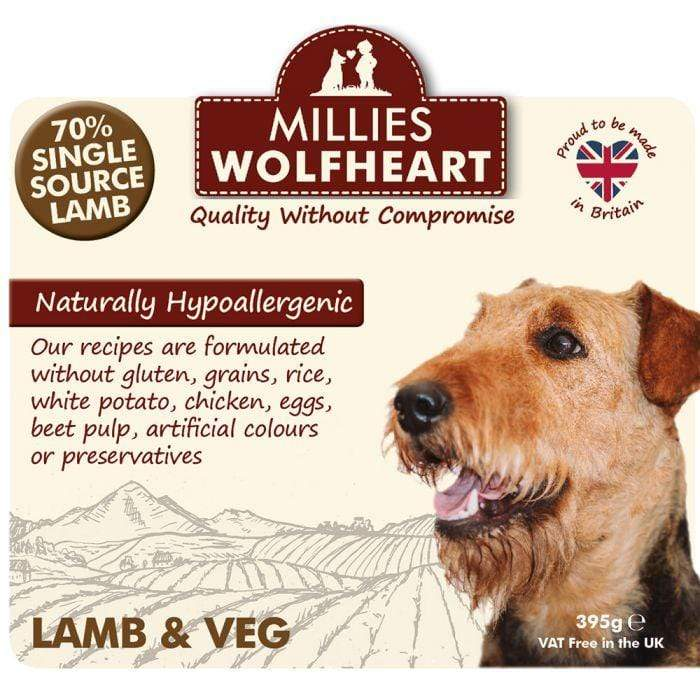 Millies Wolfheart Wet Dog Food Cans