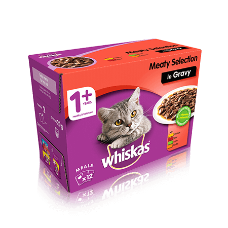 Whiskas Meaty Selection Cat Food In Gravy 12 x 100g