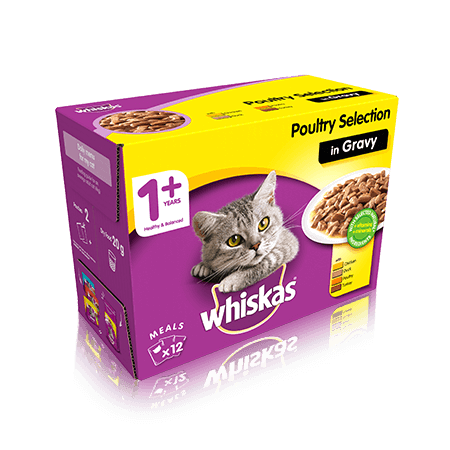 Whiskas Poultry Selection Cat Food in Jelly 12 x 100g