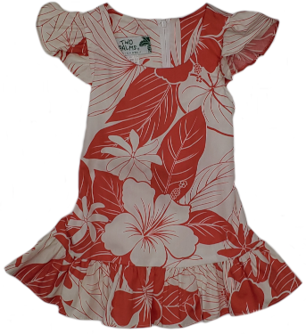Girls Hawaii Dress Lanai Coral