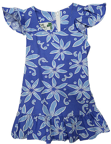 Girls Hawaiian Dress Tiare Blue