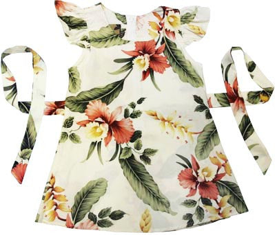 Girls Hawaiian Dress Sonic in Beige