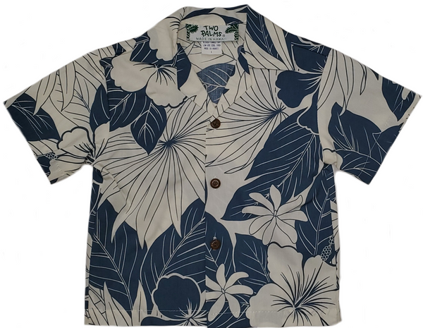 Boys Hawaiian Shirt Lanai Blue