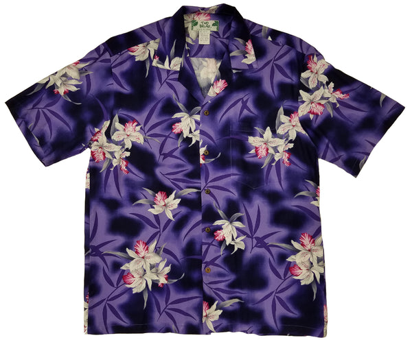 Hawaiian Shirt Midnight Orchid Purple