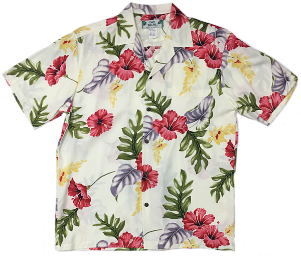 Hawaiian Shirt Monstera Cream