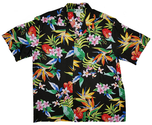 Hawaiian Shirt Passion Paradise Black