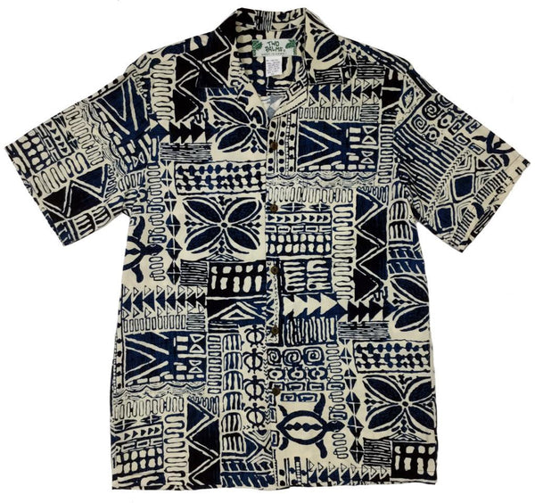 Hawaiian Shirt Honu Hale Navy