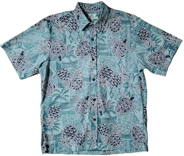 Reverse Print - Turtle Pineapple Green