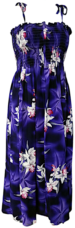 Two Palms Tube Top Dress Midnight Orchid Purple