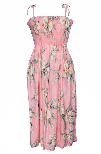 Tube Top Dress Retro Orchid Pink
