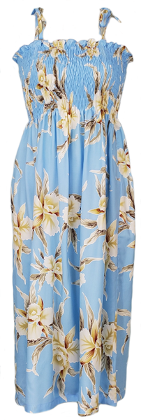Tube Top Dress Retro Orchid Light Blue