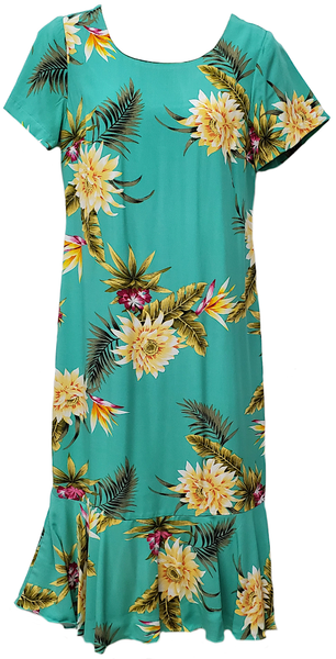 Hawaiian Dress Ceres in Green 701-3R-C