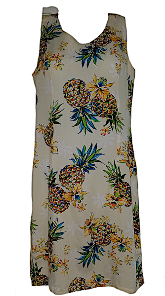 Tank Dress Golden Pineapple Cream