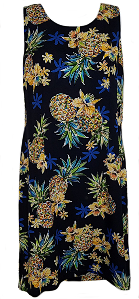 Tank Dress Golden Pineapple Navy