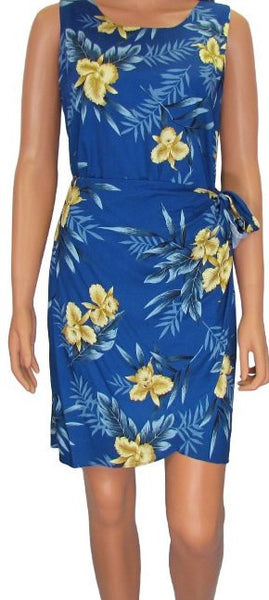 Two Palms Hawaiian Sarong Dress in Blue