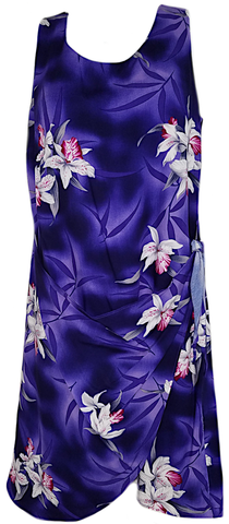 Two Palms Sarong Dress Midnight Orchid Purple