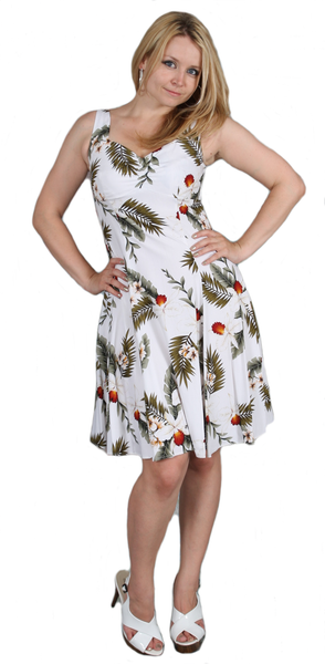 Two Palms H-Strap Dress Hawaiian Orchid White